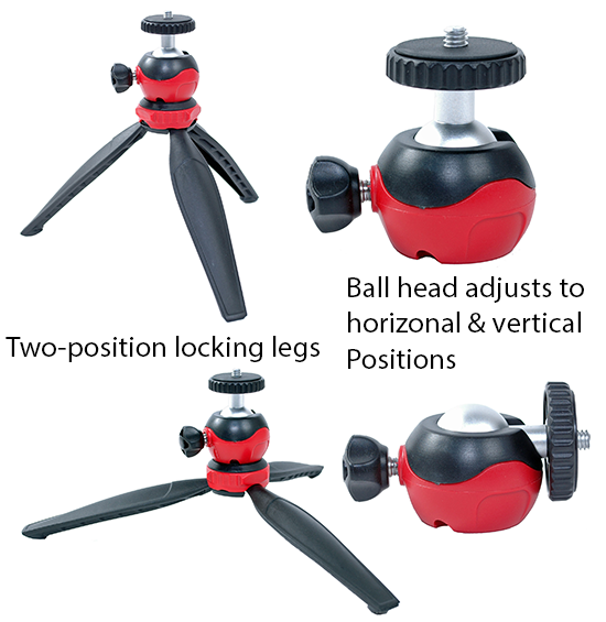 Mini Tripod and Ballhead