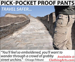 Pick-pocket-proof pants